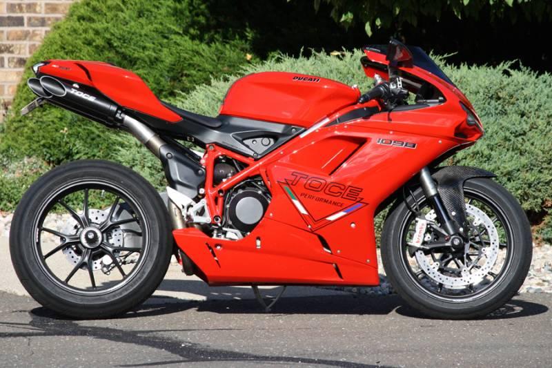 toce t- slash slip-on exhaust: ducati 848, 1098, 1198 - sportbikes