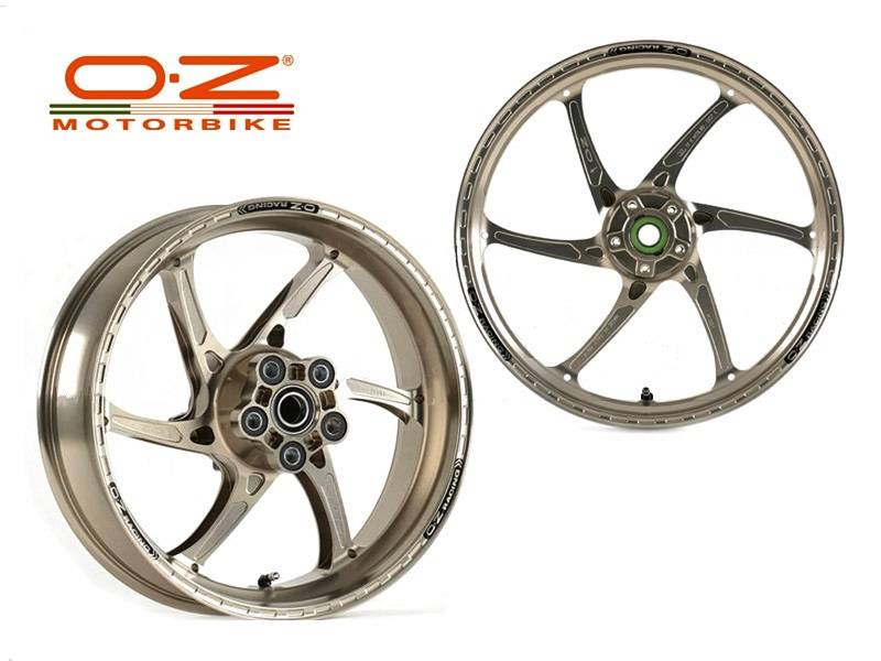 OZ Motorbike GASS RS-A Forged Aluminum Wheel Set: 2011-2015 Suzuki