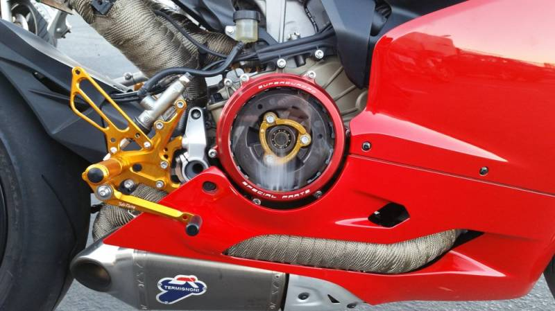 Ducabike Clear Wet Clutch Cover Pressure Plate Ring Combo
