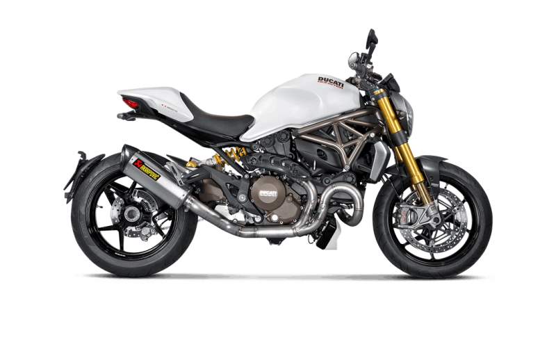 akrapovic titanium full exhaust system ducati monster 821 1200. Black Bedroom Furniture Sets. Home Design Ideas