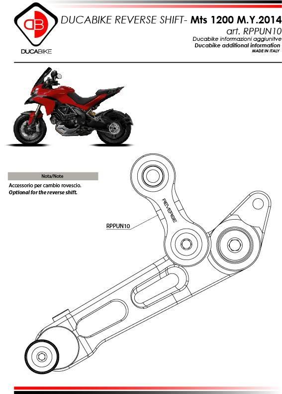 Ducati Multistrada Shift Lever