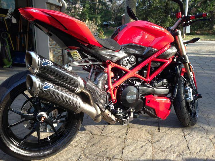 Termignoni Stainless Carbon Fiber Racing Full System 2 2 Ducati