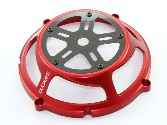 Ducabike Ducati Dry Full Clutch Cover Billet Aluminum Carbon Fiber