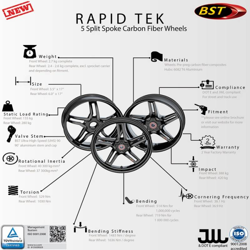 bst rapid tek carbon fiber 5 split spoke wheel set ducati diavelbst rapid tek carbon fiber 5 split spoke wheel set ducati diavel x diavel