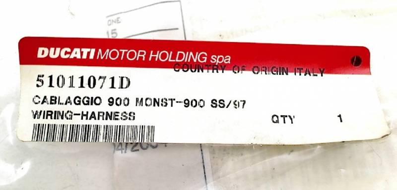 Ducati Genuine OEM Wiring Harness Monster 900 on