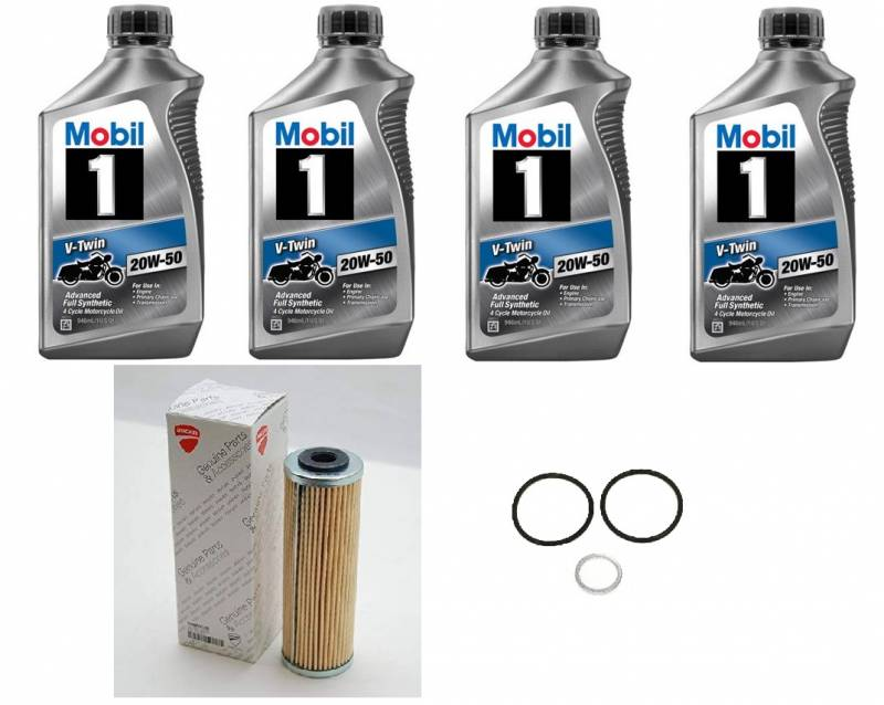 Mobil 1 Oil Change >> Mobil 1 Ducati Panigale Oil Change Kit 20w 50 Synthetic Oil