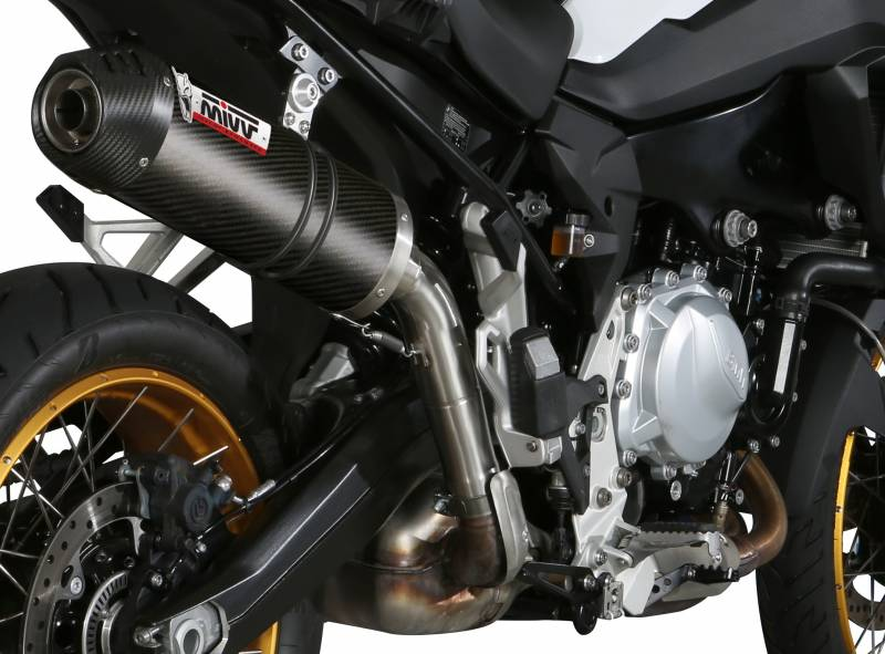 Mivv Oval Carbon Slip-On Exhaust: BMW F850GS, F750GS