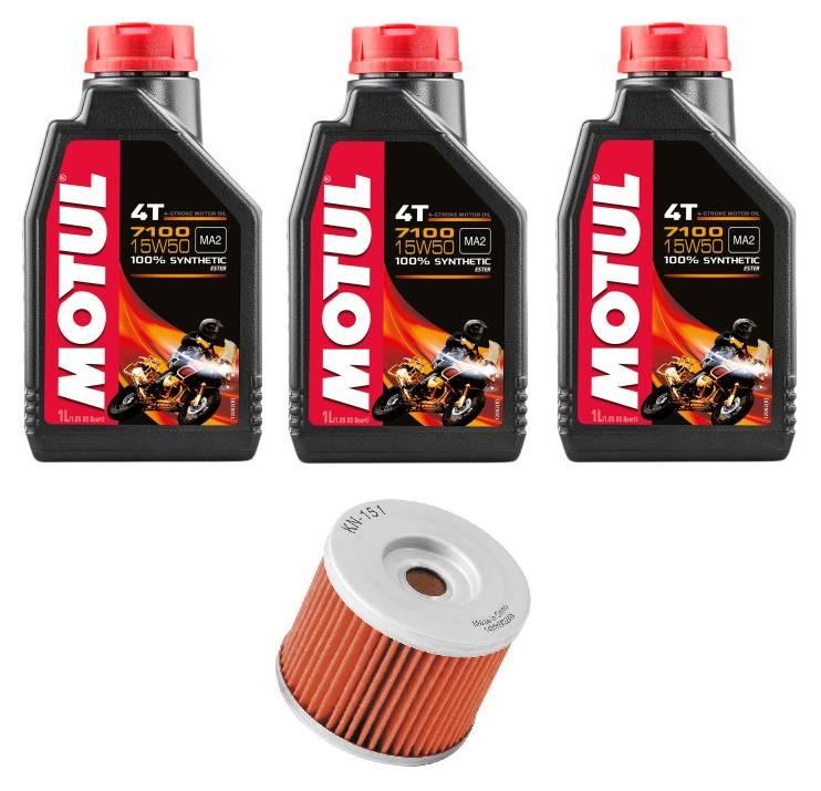 Motul 7100 Oil Change Kit With K&N Oil Filter: BMW G650X