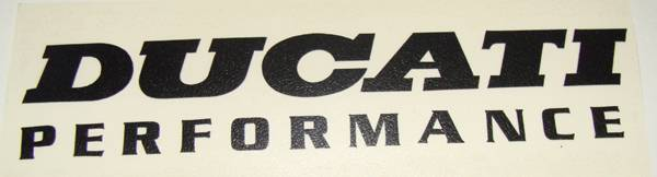 Ducati Performance Old Logo Sticker 475 X 15