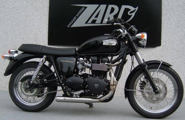 ZARD Low Mount Cross 2-1 SS/SS Full System: Triumph Bonneville Injected
