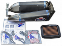 Termignoni - Termignoni Titanium/CF Front Exit Slip-On Exhaust: Ducati 899-959-1199-1299 [Most HP Gain For An Slip-On]