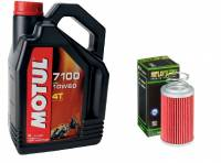 Motul - Ducati Oil Change Kit: MOTUL 300V 10W-40 or 15W-50 Synthetic Oil & K&N Oil Filter [Except PANIGALE]