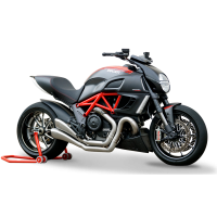HP Corse - HP Corse Hydroform Dual 2-2 Slip-On Exhaust System [Factory Line Version]: Diavel
