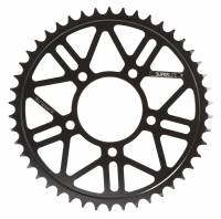 SUPERLITE - SUPERLITE RS8-R 525 Pitch Black Hard Anodized Alloy Rear Sprocket:  BST / Marchesini / OZ Motorbike / Rotobox Wheels