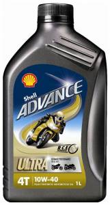Shell - Shell Advance 4T Ultra 10W-40 Synthetic Oil [Liter] - Image 1