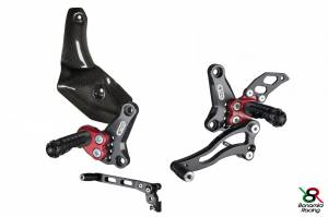 Bonamici Racing - Bonamici Adjustable Billet Rearsets: Ducati Street Fighter 848/1098