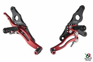 Bonamici Racing - Bonamici Adjustable Billet Rearsets: Ducati Hypermotard [Race Version]