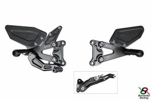 Bonamici Racing - Bonamici Adjustable Billet Rearsets: BMW S1000 RR/HP4 SBK EVO 09-14 [Reverse Shifting] With Ti Hardware