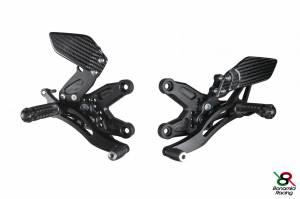 Bonamici Racing - Bonamici Adjustable Billet Rearsets: BMW S1000 RR/HP4[Standard Shifting]09-14