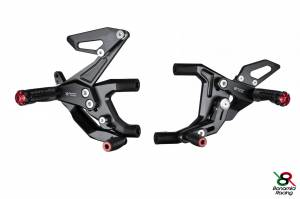 Bonamici Racing - Bonamici Adjustable Billet Rearsets: Ducati Panigale 1299/1199/899/959