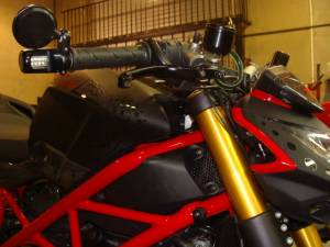 Oberon - OBERON Bar End Turn Signals w/ CRG Blindsight Mirrors: Ducati, MV Agusta