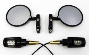 Oberon - OBERON Bar End Turn Signals w/ CRG Hindsight Mirrors kit
