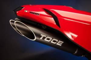 TST - TOCE T- SLASH SLIP-ON EXHAUST: DUCATI 848, 1098, 1198