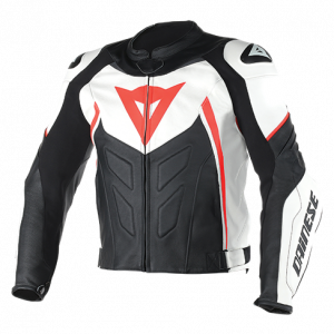 DAINESE Closeout  - DAINESE Avro D1 Jacket [White/Black/Fl-Red] Last call, No return or exchange accepted! - Image 1