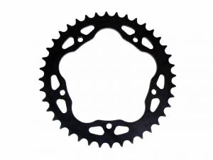 SUPERLITE - SUPERLITE RS7 525 Pitch Black Steel Quick Change Rear Sprocket: Ducati 5 Hole, MV Agusta F4 750/Brutale 750