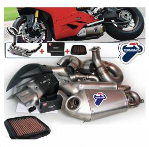 Termignoni - Termignoni Titanium/Steel Full Exhaust System With Up-Map And Performance Air Filter: Panigale 1199/1199S