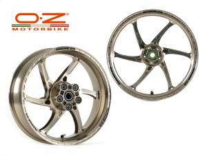 OZ Motorbike - OZ Motorbike GASS RS-A Forged Aluminum Wheel Set: Ducati 1098-1198, SF, MTS1200, Monster1200