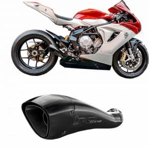 HP Corse - HP CORSE HYDROFORM  BLACK COATED STAINLESS Slip-On exhaust : MV AGUSTA F3 675 / 800