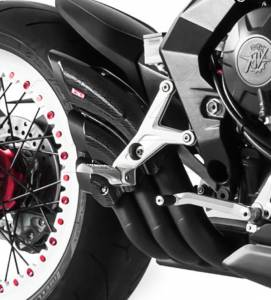 HP Corse - HP CORSEHYDROTRE BLACK CERAMIC COATED STEEL SLIP ON EXHAUST: MV AGUSTA DRAGSTER 800RR - Image 1