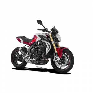 HP Corse - HP CORSE HYDROTRE SATIN STEEL SLIP ON EXHAUST: MV AGUSTA BRUTALE 800RR [CARBON COVER]