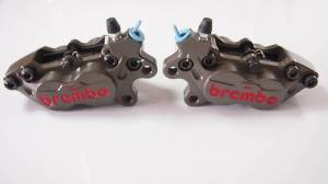 Brembo - BREMBO RACING AXIAL P4 30/34 BILLET CALIPERS WITH PADS: 40MM [PAIR]