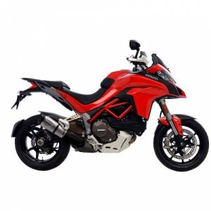 Leo Vince - LEOVINCE 14131S STAINLESS STEEL SLIP-ON EXHAUST: Ducati Multistrada 2015+