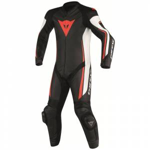 DAINESE Closeout  - DAINESE Assen Perforated Suit [Black/White/Fl-Red] Last call! - Image 1