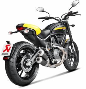 Akrapovic - Akrapovic Titanium Black Titanium Slip-On Exhaust: Ducati Scrambler - Image 1