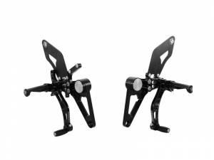 Ducabike - Ducabike Adjustable Rear Sets: Ducati S2R/S4R/S4RS [Fixed Pegs/ Alum Heel-guards] - Image 1