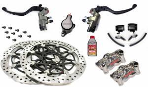 Motowheels - High Performance Brake & Clutch Kit: Ducati Panigale 1199-1299 Brembo Billet Master Cylinders, Billet Calipers - Image 1