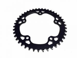 SUPERLITE - SUPERLITE RS7 SERIES 525 PITCH BLACK STEEL REAR SPROCKET : MV Agusta F41000, Brutale 910/1090, F3-Brutale 675/800, Rivale, Stradal, Turismo Veloce - Image 1