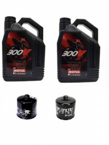 Motul - Ducati Oil Change Kit: MOTUL 300V 10W-40 or 15W-50 Synthetic Oil & K&N Or Hiflo Oil Filter[All Ducatis Except PANIGALE]