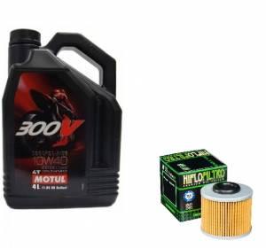 Motul - MV Agusta Oil Change Kit: MOTUL 300V 10W-40 Synthetic Oil & Hiflo Oil Filter; F3/ Brutale 675-800, Turismo Veloce, Stradale, Rivale - Image 1
