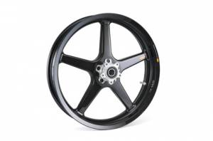 """BST Wheels - BST Twin TEK 5 Spoke Carbon Fiber Front Wheel 3.5"""" x 17"""": Ducati Scrambler - Image 1"""