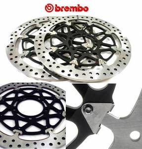 Brembo - BREMBO HP T-Drive Disk Kit [5 Bolt/320mm, 10mm Offset]: Ducati Monster 796-797-1100EVO-821-1200, Hypermotard, Diavel, MTS 1200, Supersport 939 - Image 1