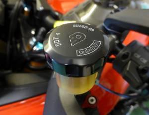 Oberon - OBERON Rear Brake/ Clutch Reservoir Cap: Ducati/Aprilia