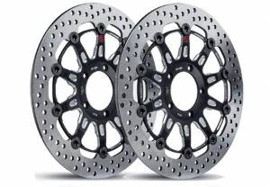 Brembo - Brembo Groove Rotors:  [Ducati 5 Bolt 320mm/10mm Offset] Monster 796, Monster 1100 EVO, Monster 1200, Hypermotard, Diavel, MTS1200, Hyperstrada [Pair] - Image 1