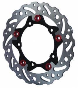 Braketech - BrakeTech AXIS Cobra Stainless Steel Series Rear Brake Rotor: Ducati Panigale 1199-1299-V4-V2, MTS 1200 '10-'14, Monster 1200, SF V4 - Image 1
