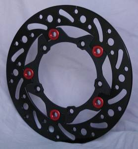 Braketech - BrakeTech AXIS Iron Race Series Rear Rotor: Ducati Panigale 899-959, Monster 696-796-797-821, Scrambler - Image 1
