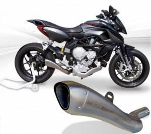 HP Corse - HP CORSE HYDROFORM STEEL SATIN EXHAUST: MV AGUSTA Rivale 800 - Image 1